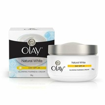 Olay Natural White Glowing Fairness Day Cream SPF 24 50 gm -Radiant look... - $14.51