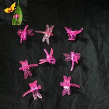 (50 Pack) Pink Plastic Dragonfly Clips by Sophie's Orchids - $30.25