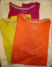 Time And Tru Women's Crew Neck T Shirt SMALL (4-6) Short Sleeve ALL 3 SH... - $26.72