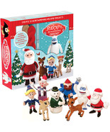 (Set) Rudolph The Red Nosed Reindeer Character Crochet Kit and Vinyl Fig... - $690,90 MXN