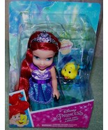 "My First Disney Petite Ariel 6"" Doll &  Pet Flounder New - $24.50"
