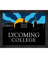 Lycoming College Warriors 13 x 16 Uscape with Retro Skyline Framed Print  - $39.95