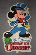 """Walt Disney's Great Ice Odyssey Mickey Mouse 19"""" Felt Souvenir 1982 - $25.00"""