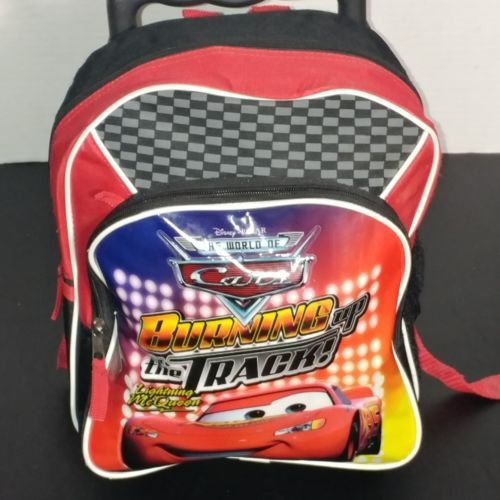 Disney Pixar Cars Bookbag W Wheels & Handle