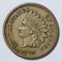 1859 Indian Head Cent Penny Coin Lot# E 195