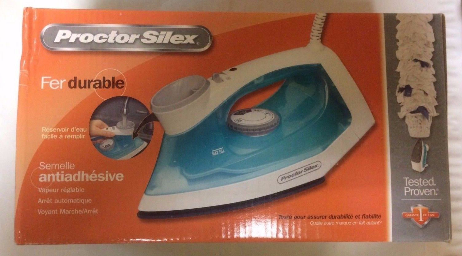 Proctor Silex Steam Iron with Easy Fill Water Reservoir & Nonstick Soleplate (17 - $21.73