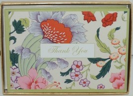 Caspari 87622 48 Chinese Silk Ivory Thank You Notes and Envelopes Pkg 6 image 1