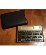 HP 12c Financial Calculator with Leather style Sleeve Vintage Gold Working - $49.00