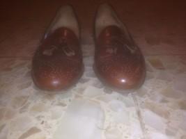 SALVATORE FERRAGAMO Studio, men's size 6 B, leather tasseled kilt dress shoes - $64.35