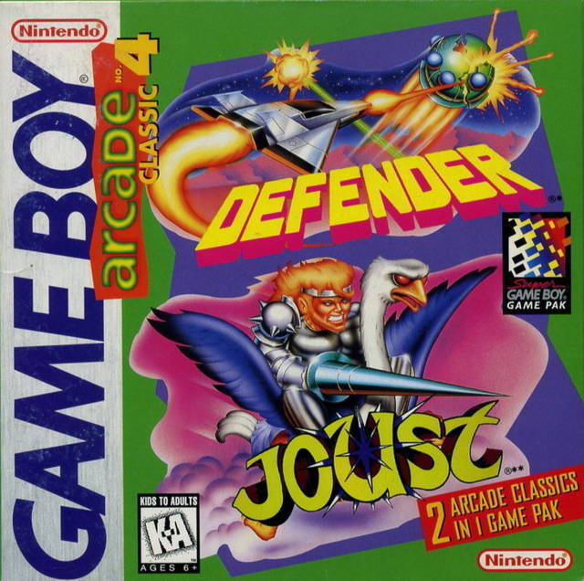 Arcade Classic 4 Defender/Joust Gameboy Great Condition Fast Shipping