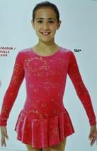 Mondor Model 2723 Girls Skating Dress Medieval Red size CHild 10-12 - $65.00