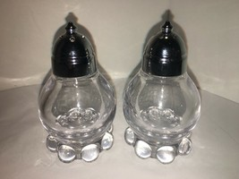 "VINTAGE CANDLEWICK GLASS SALT & PEPPER SHAKERS 3 1/4"" - $12.50"