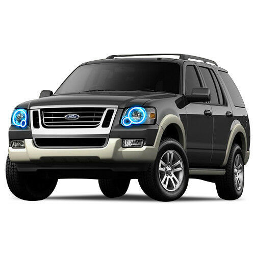 Primary image for Brightest Blue LED Halo Ring Headlight Kit for Ford Explorer 06-10