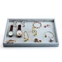 Oirlv Velvet Stackable Jewelry Trays Grids Rings Earrings Bracelet Watch... - $30.32