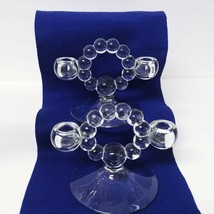 Imperial Glass Candlewick Double Taper Candle Holder 2pc set - $55.05