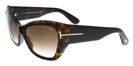 New Tom Ford FT0460S 52G CORINNE Havana Square Feline Sunglasses - $118.79