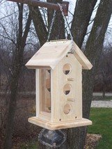 Handmade Large Hanging bird seed feeder - $44.95