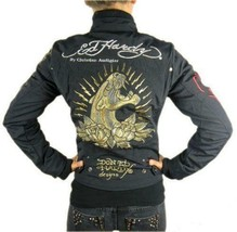 NEW ED HARDY CHRISTIAN AUDIGIER WOMEN'S PREMIUM JACKET BLACK PANTHER SIZE XS image 1