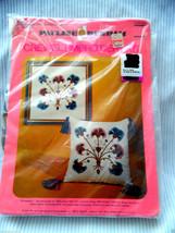 JACOBEAN BOUQUET PICTURE/ PILLOW Crewel Embroidery Kit By Pauline Denham - $39.11
