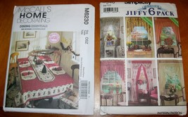7946 M6230  Sewing Pattern Abbie's Jiffy 6 Pack Drapes Curtains Tableclo... - $10.00