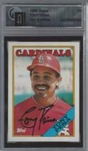 1988 Topps #410 Tony Pena Auto GAI Cert  - $29.65