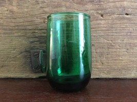 "Lot #3 / Anchor Hocking Roly Poly Forest Green 3 3/8"" Flat Juice Glass - $15.00"