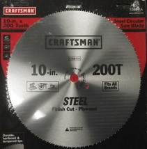"""Craftsman 26811 10"""" x 200 Tooth Saw Blade Crosscut / Plywood - $4.95"""