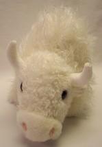 "TY Beanie Buddies SOFT FUZZY WHITE BUFFALO 10"" Plush STUFFED ANIMAL Toy ... - $18.32"