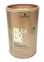 Schwarzkopf BlondMe Bond Enforcing Premium Lightener 9+ Dust Free Powder... - $20.49