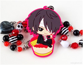 Takasugi Chibi Character Necklace, Anime Jewelry, Waloli, Japanese Fashion - $27.00