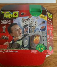 Almost Full Fisher Price Trio Kings Gatehouse Building Blocks box and book - $19.26