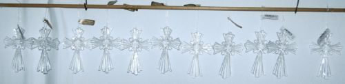 Roman Inc 23886 Celtic Cross Ornament Color Transparent Set of 11