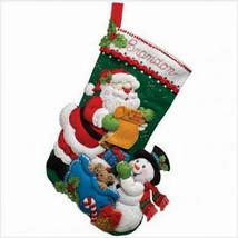Bucilla Felt Stocking Kit, Santa's List, 18in embroidery, XMAS, Christmas - $21.99