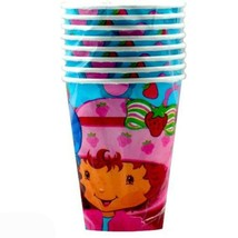 Strawberry Shortcake Best Friends 9 oz Blue Paper Cups 8 Ct Party Suppli... - $3.91