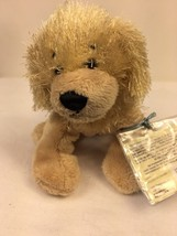 "GANZ Webkinz Golden Retriever Dog Plush 7"" Stuffed Animal Sealed Code Lovey - $7.87"