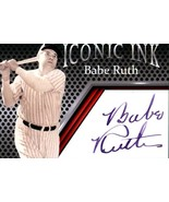 Babe Ruth Iconic Ink Fascimile Autograph Mint New York Yankees - $5.94