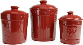 Signature Houseware 70766 Sorrento Ruby Canisters Set of 3 - $44.05
