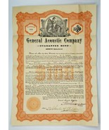 """1911 Rare Stock Certificate """"General Acoustic Company"""" New York / Missou... - $59.99"""