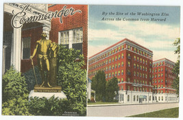 Cambridge MA Mass Commander Hotel Linen Vintage Postcard - $8.95