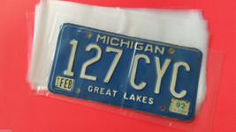 100 License Plate Plastic Storage Sleeves Prote... - $19.35
