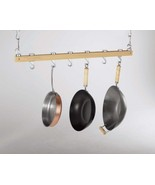 Concept Housewares 36-Inch Hardwood Hanging Pot Rack, Natural / 4 CT - $101.99