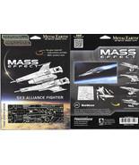 Mass Effect Game SX3 Alliance Fighter Metal Earth 3-D Laser Cut Steel Mo... - $12.55