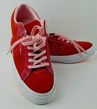 Converse One Star Red Pink Wh Suede Men 10.5 Women 12.5  Shoes Sneakers ... - $44.99