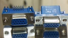 2X  KYCON DB15 DSUB VGA Right Angle Connector -2pcs  - $5.00