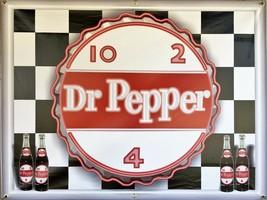 DR PEPPER CAP 10-2-4 SIGN NEON EFFECT PRINTED BANNER SHOP GARAGE FUN ART... - $53.96