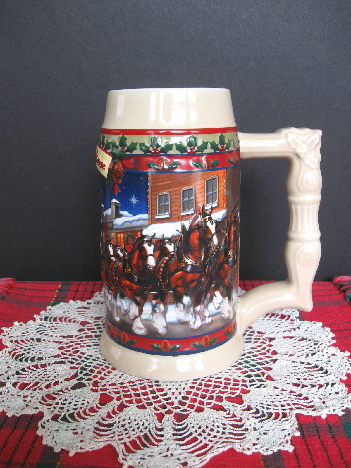 2003 Budweiser Holiday Stein - Old Towne Holiday - No. CS560 - No Box image 3