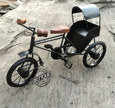 Valentine Iron Rural Tier Rickshaw Bicycle Home/Office Figurines Decor V... - £38.37 GBP