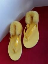 Ugg Laalaa Vibrant Yellow Flip Flops Sandals Thongs Women's Shoes size 7 EUC - $28.10