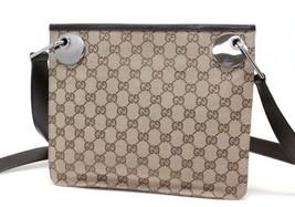 AUTHENTIC GUCCI Eclipse GG Shoulder Bag Beige a... - $430.00