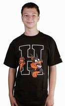 Hall Of Fame H Hound HOF Black Graphic Short Sleeve Tee Cotton T-Shirt